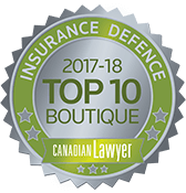 Canadian Lawyer Top 10 Boutique Insurance Defence 2017-2018