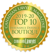 Canadian Lawyer Top 10 Boutique Insurance Defence 2019-2020