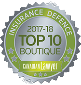 Canadian Lawyer 2017-2018 Top 10 Boutique Insurance Defence