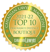 Canadian Lawyer 2021-2022 Top 10 Boutique Insurance Defence